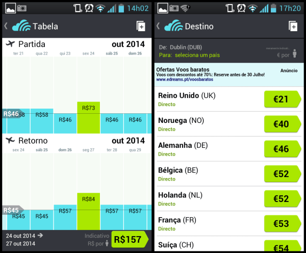 skyscanner screenshot