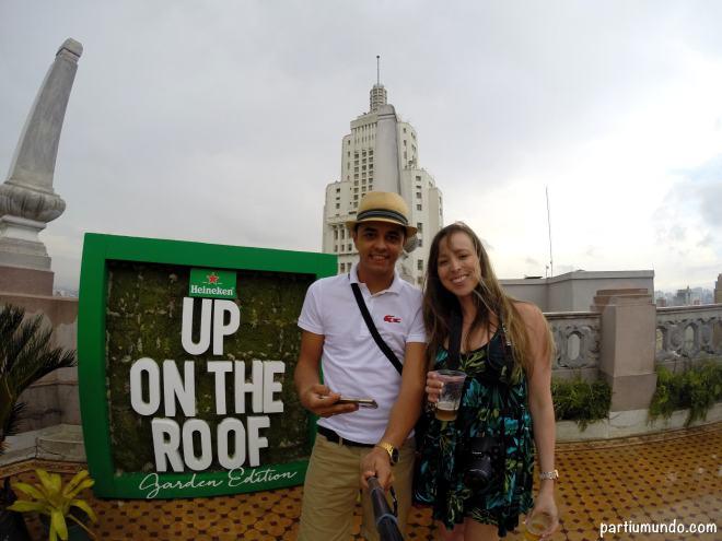 heineken up on the roof