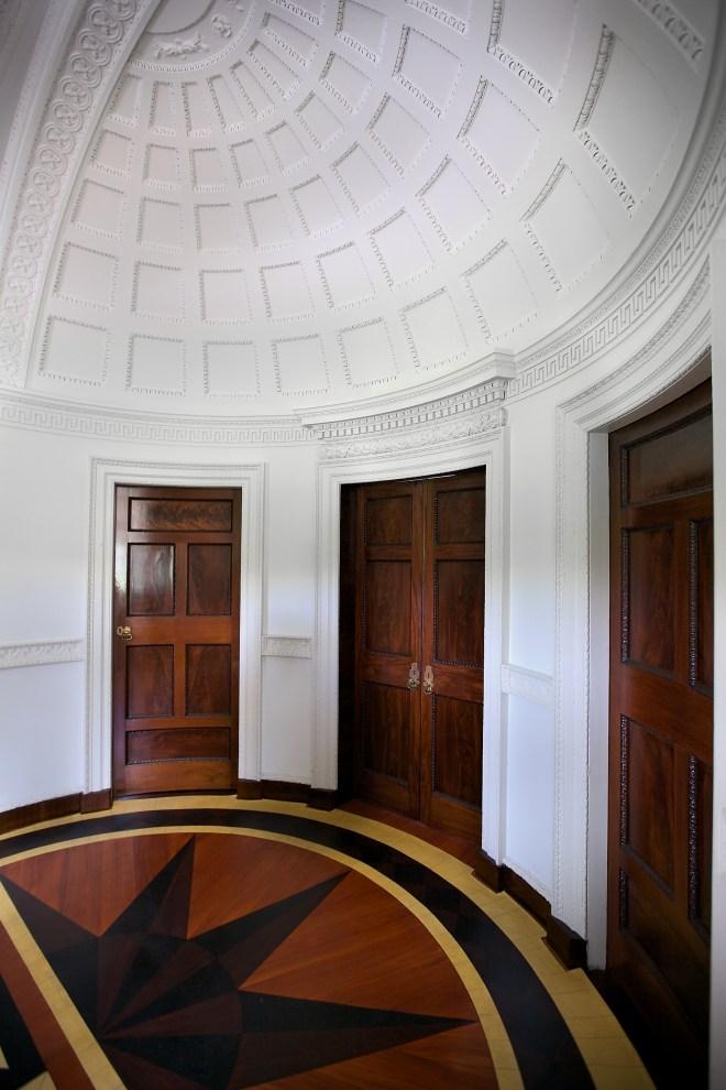 Doors from the vestibule