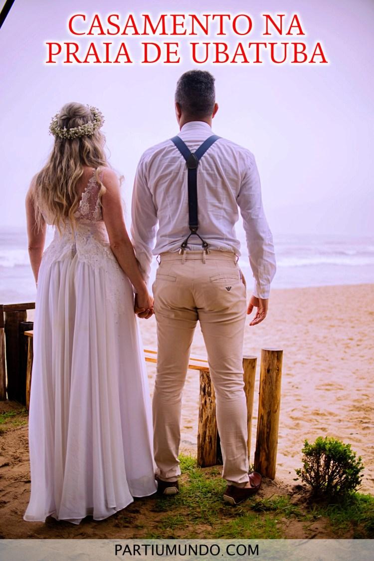 Casamento na praia de Ubatuba