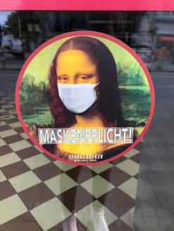 Series mandatory mask Germany, Bremen (Photo Klaara Teetz)