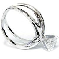 1ct Round Cut Diamond Solitaire Engagement Ring 14k White ...