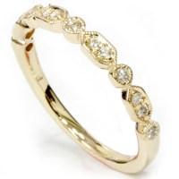 1/6ct Diamond Wedding Stackable Ring 14k Yellow Gold | eBay
