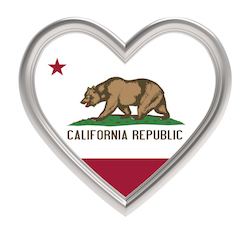 California Flag in Heart