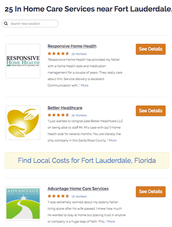 Caring Home Care Directory Search