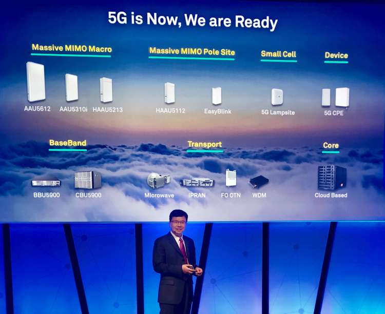 Huawei Launches Full Range of 5G End-to-End Product Solutions