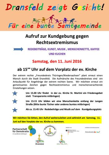 Dransfeld bleibt bunt 11 Juni Plakat (2)