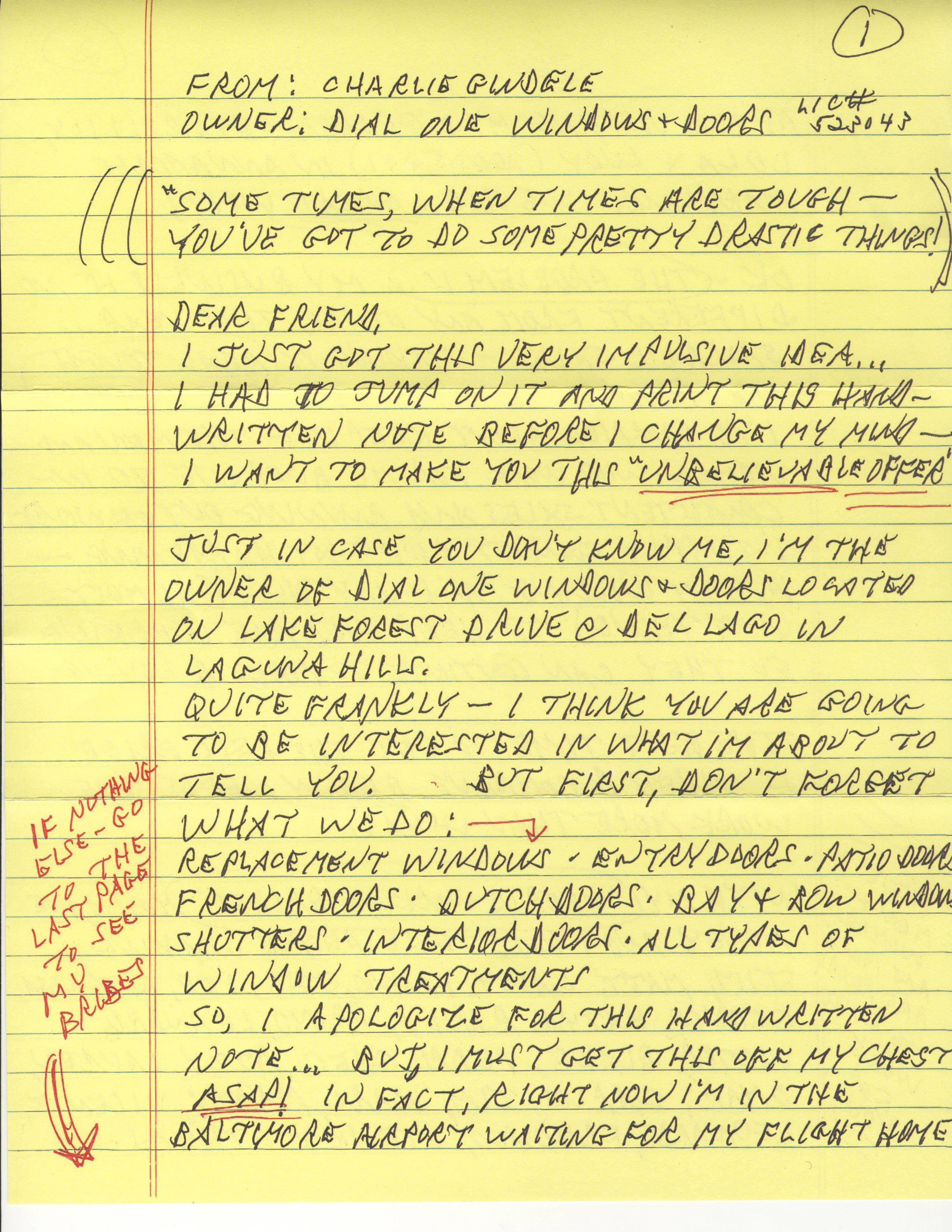 The Handwritten Prospecting Letter  CustomerThink
