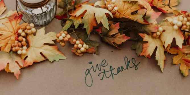 """Be thankful"""