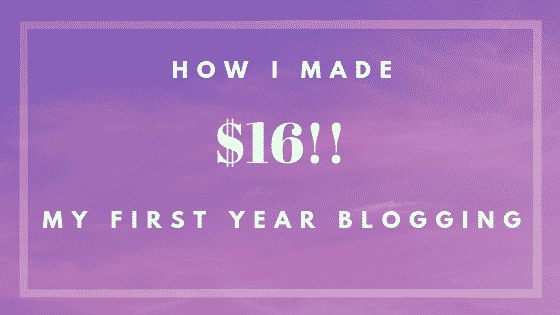 first year blogging