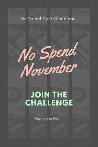 """""""No spend November"""""""
