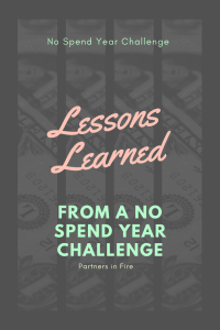 Lessons Learned from a no spend year challenge