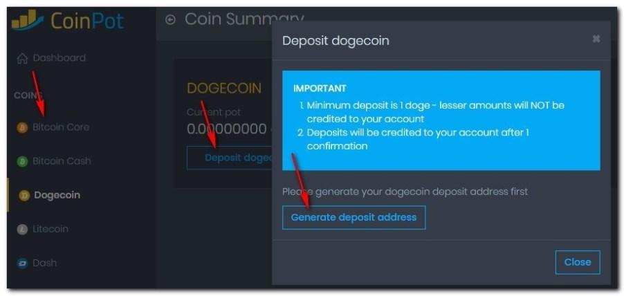 генерация криптовалютных адресовCoinot