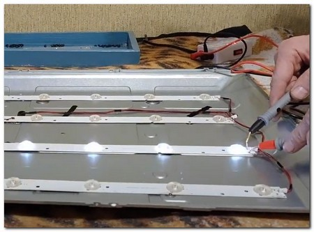 Проверка светодиодных лент подсветки