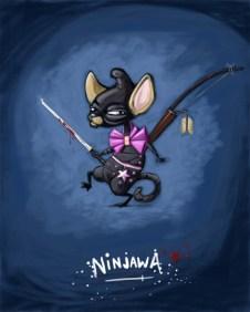 A mixture of a chiwawa and a ninja.