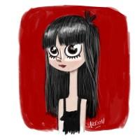 girl, meisje, teenager, drawing, cartoon, sketch, schets