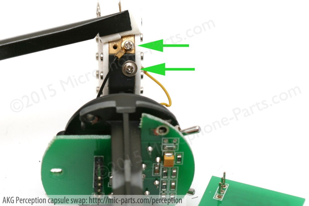 medium resolution of remove the akg microphone capsule