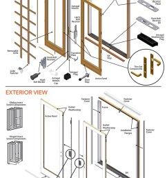 400 series frenchwood patio door parts diagram [ 880 x 1362 Pixel ]
