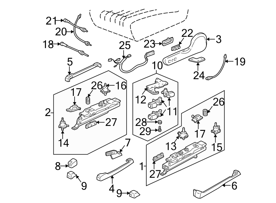 1994 Chevrolet Camaro Power Seat Wiring Harness (Front