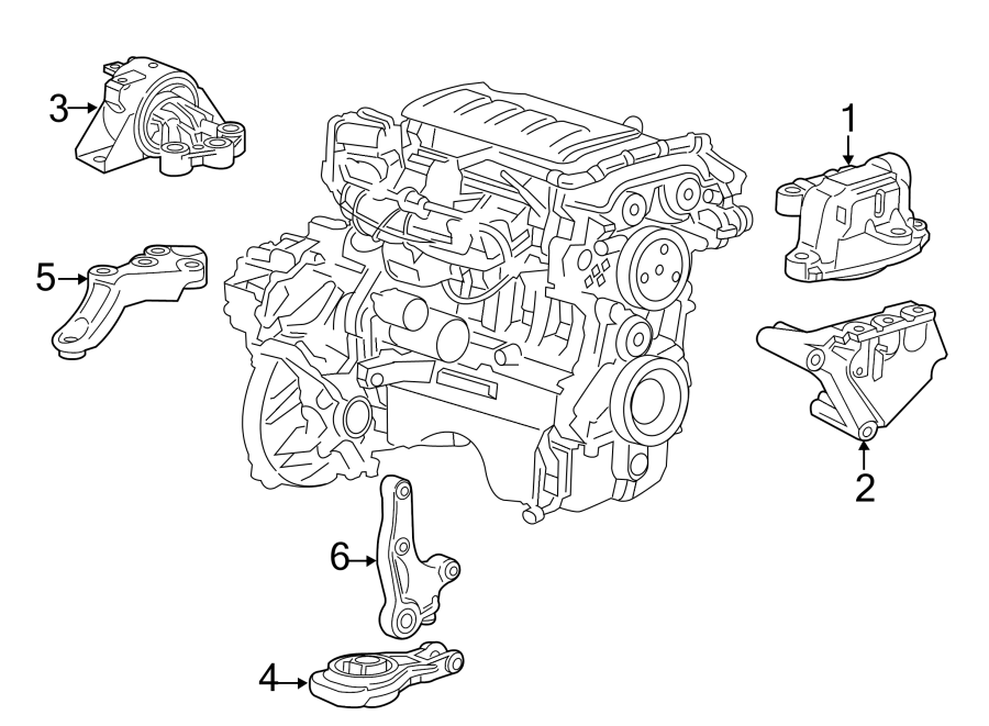 2018 Chevrolet Sonic Mount. Transmission. (Upper). 1.4