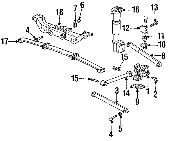 1993 Buick Regal Control arm. Rr lateral arm. Suspension