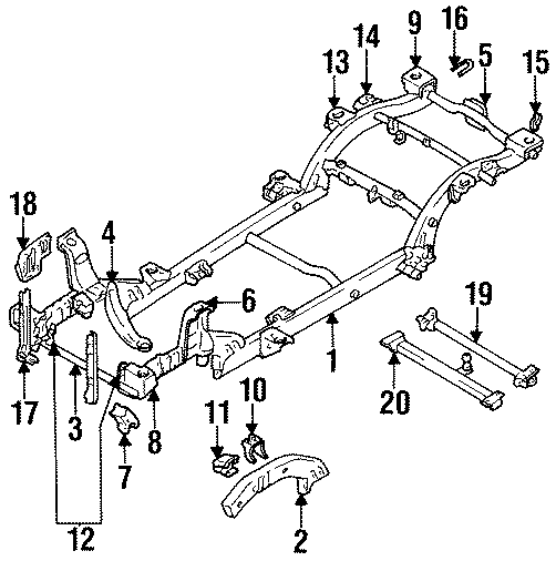 Chevrolet Tracker Mount bracket. Included with: Part is