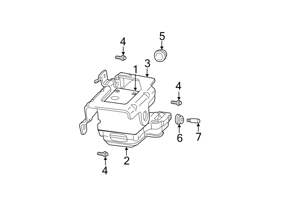 GMC Envoy XUV Abs hydraulic assembly. Control, traction