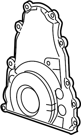 GMC Sierra 1500 Engine Timing Cover. FRONT COVER