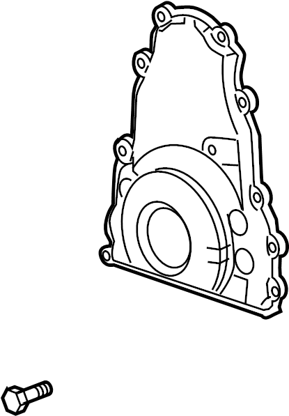 GMC Sierra 1500 Engine Timing Cover (Front). LITER