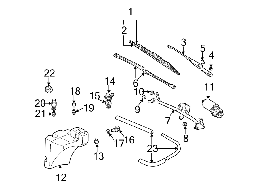 2003 Audi A6 Plug. Washer. Reservoir. Fluid. Headlight