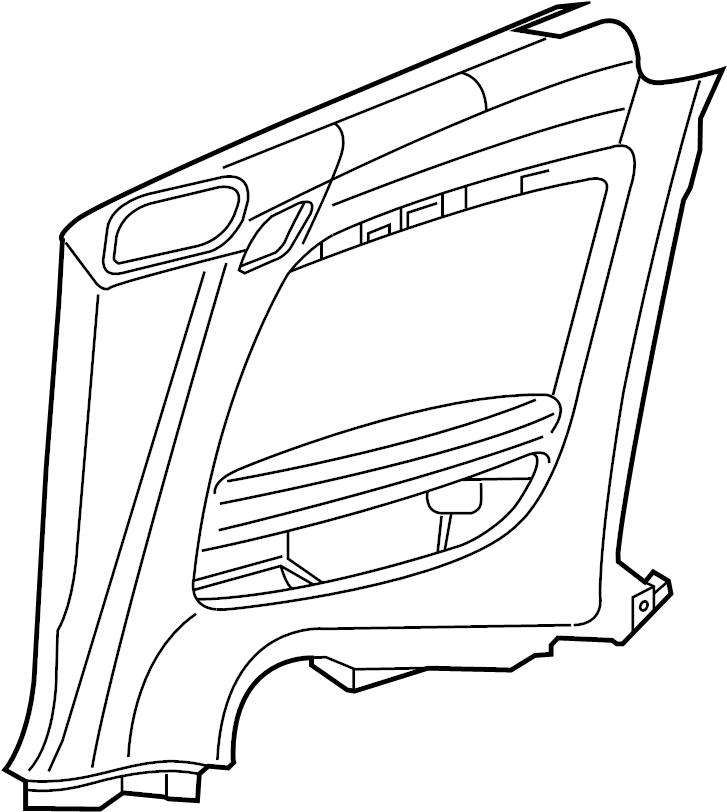 Audi TT Interior Quarter Panel Trim Panel. Leatherette