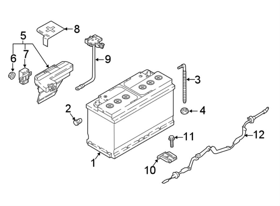 2020 Audi A5 Module. Control. Battery. Current Sensor