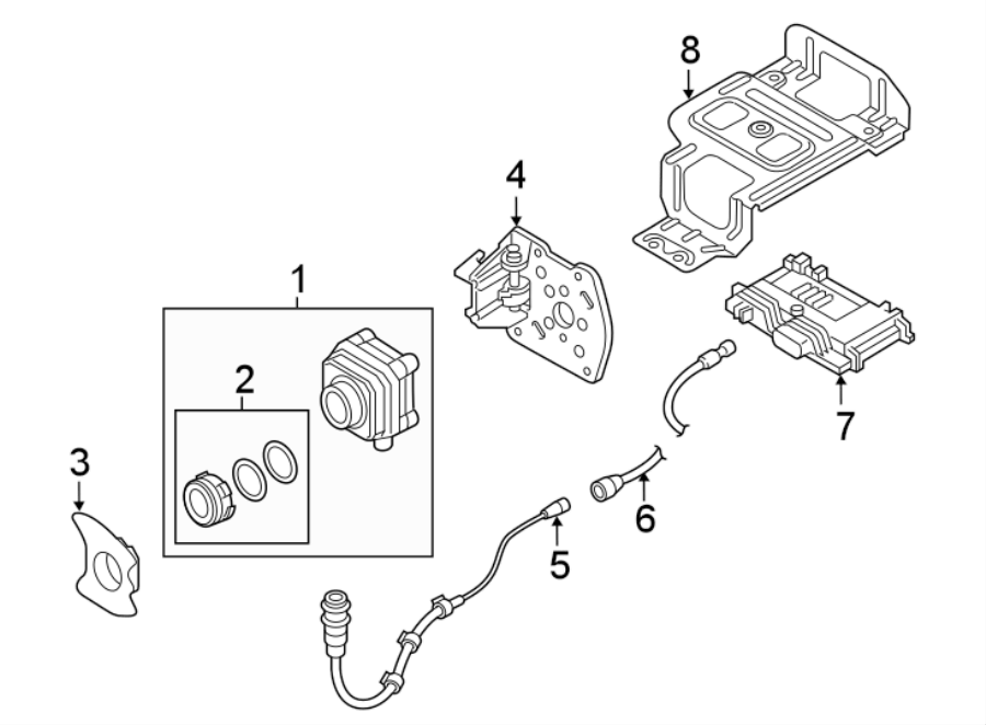 Audi A8 Harness. Connector. ADAPTER. Night Vision Camera
