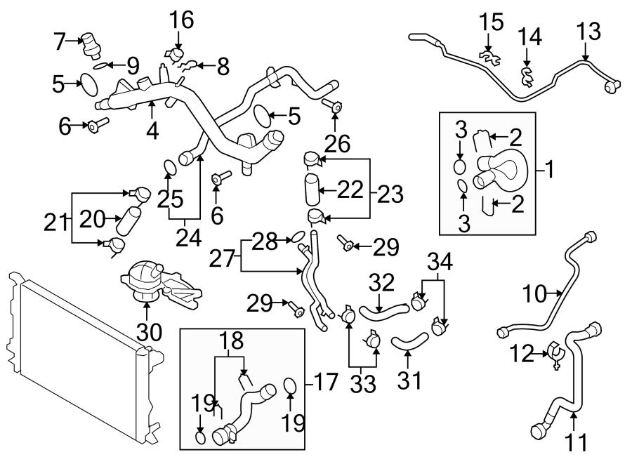 Audi A5 Engine Coolant Thermostat Kit. 3.2 LITER. 3.2