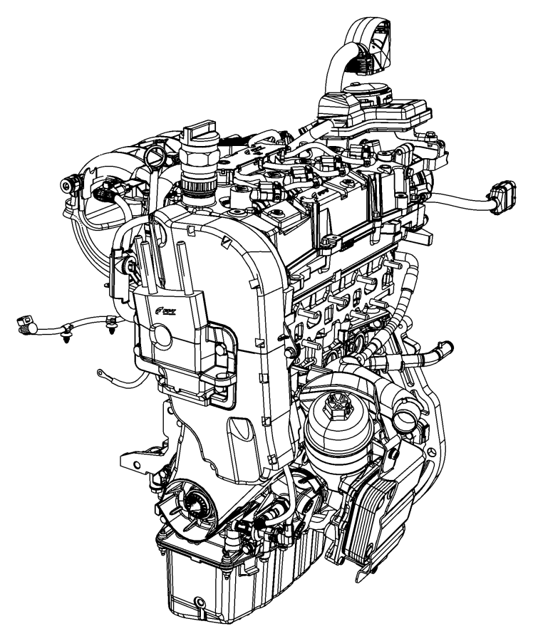 Audi A4 Base engi. Engine long block. Engine long block