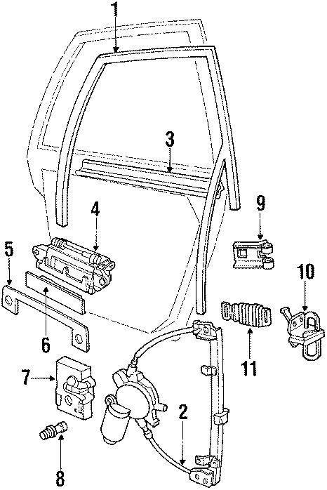 1991 Audi Boot. Weatherstrip & hinge. Door, rear, front