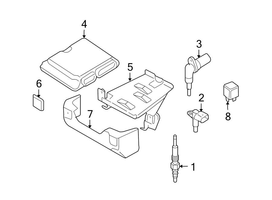 2013 Audi Diesel Glow Plug. LITER, IGNITION, SYSTEM