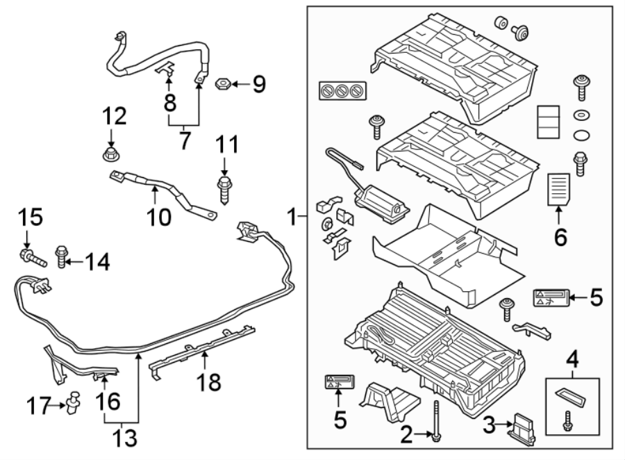 2018 Audi A3 Sportback e-tron Drive Motor Battery Pack