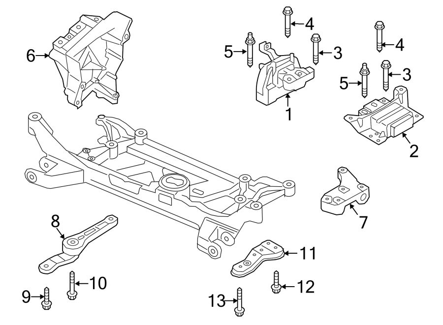 2015 Audi A3 Support. Bracket. Engine. (Front, Rear