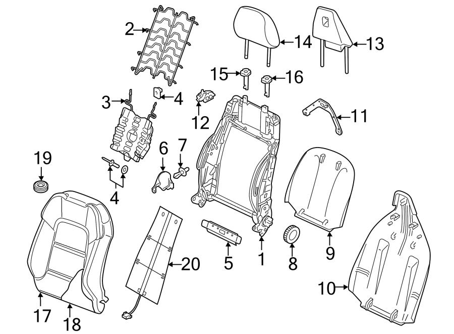 Audi A3 Seat Back Cushion. COMPONENTS, SIDE, SEDAN