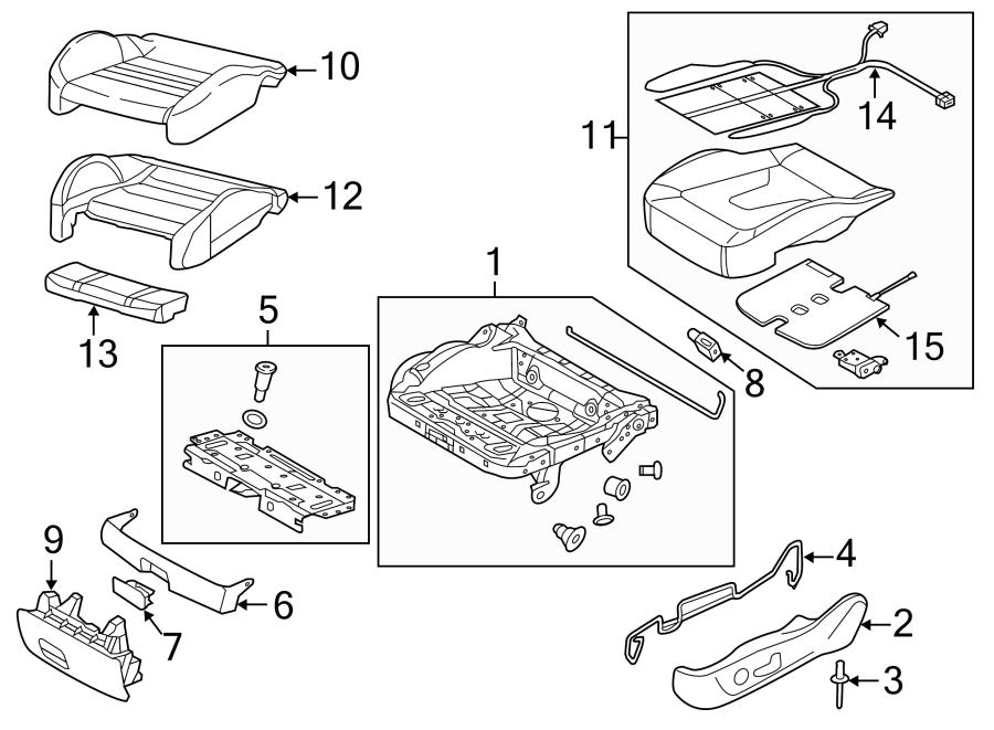2016 Audi A3 Seat Track Adjust Handle. ComponentS, CUSHION