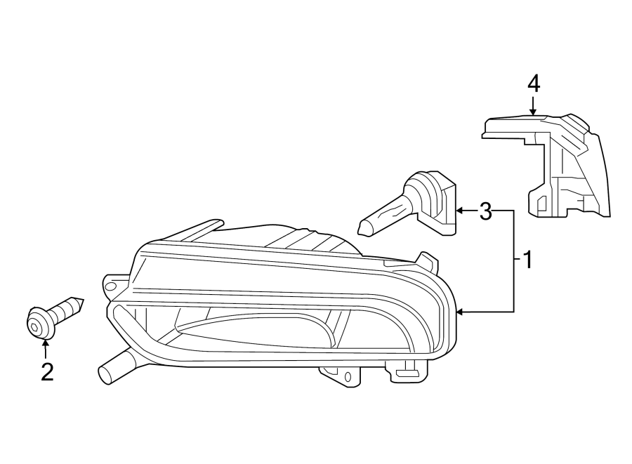 2015 Audi A3 Bulb. Beam. HeadLight. Lamp. (Lower). Front