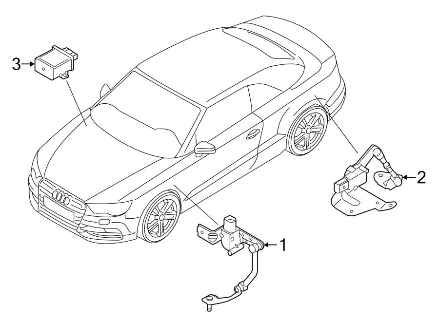 Audi A3 Sensor. Level. (Rear). Tron, SUSPENSION, CONTROL