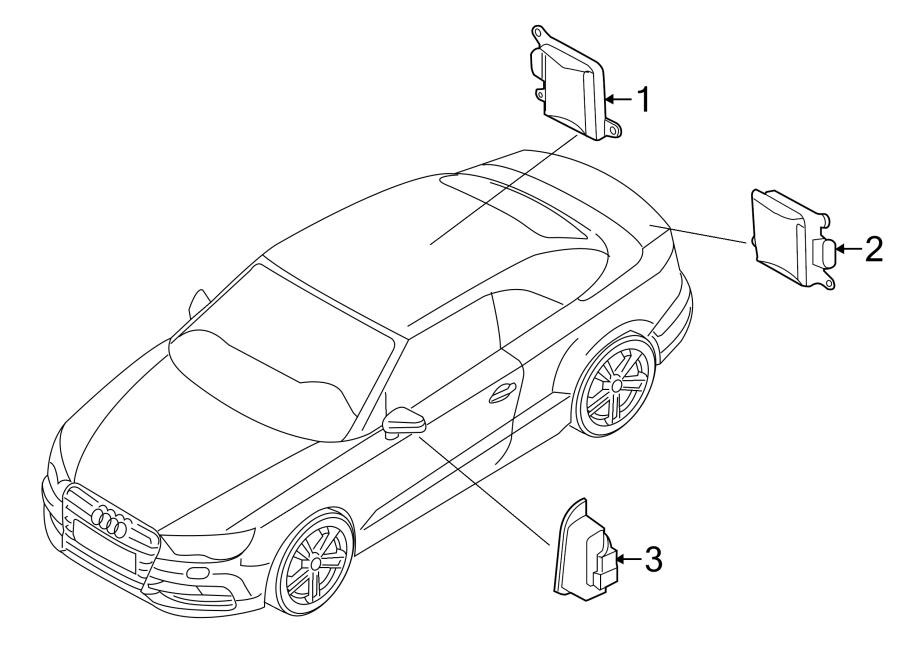 2016 Audi A3 Blind Spot Detection System Warning Sensor
