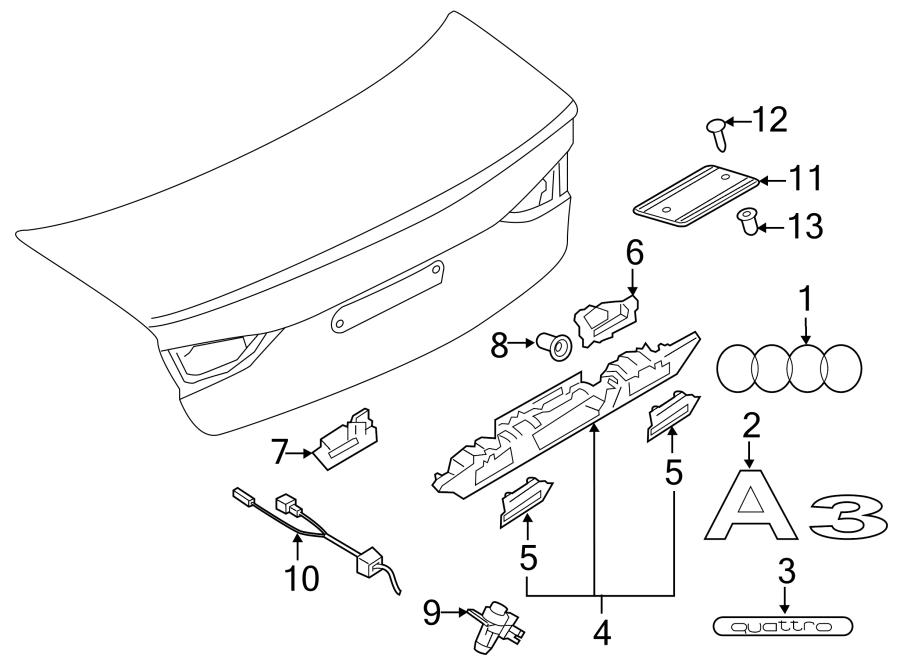 2017 Audi A3 License. Bracket. Bracket for the license