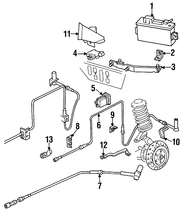 Audi 200 Sensor. ABS. 100 SERIES. 200 SERIES. 2WD. 4WD