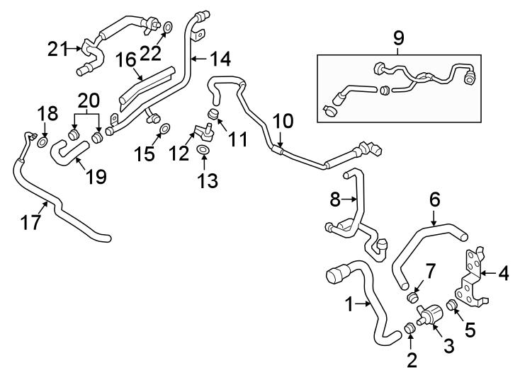Audi A4 Hvac heater hose connector. Audi; volkswagen