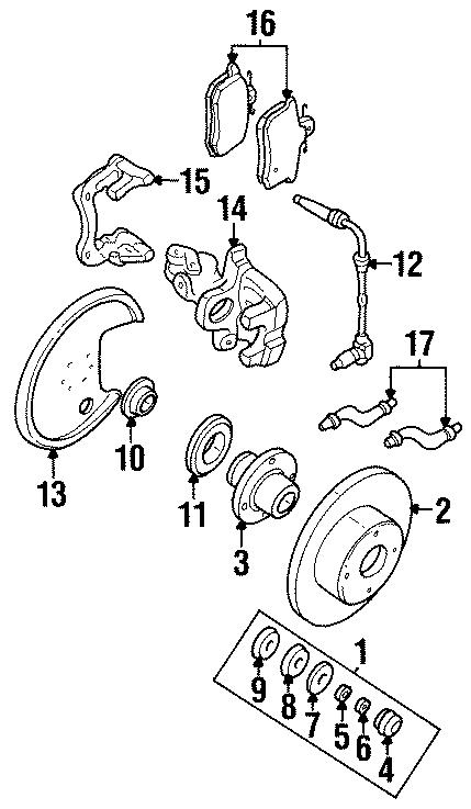1994 Audi Wheel Seal. SUSPENSION, REAR, COMPONENTS