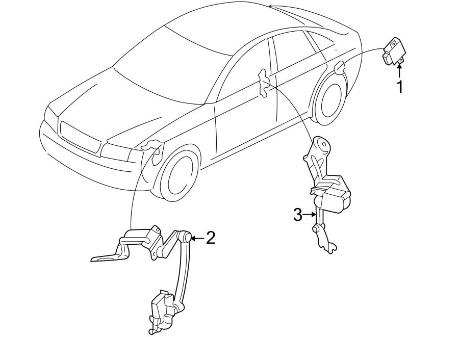 2004 Audi A4 Sensor. Level. Front. Headlight. Height