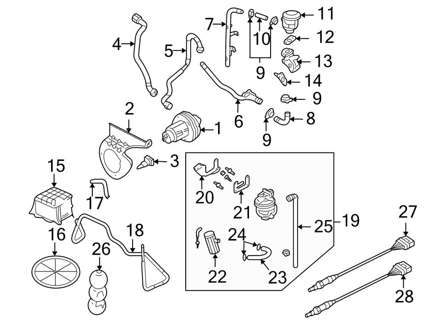 Audi A4 Secondary Air Injection Pump Hose. LITER, EMISSION